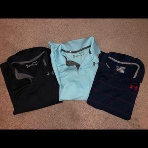 Under Armor polo shirts boy size M
